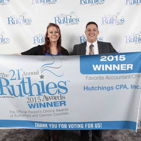 2015, 2016 Ruthies Award for Best in Tax Preparation and Accounting Services